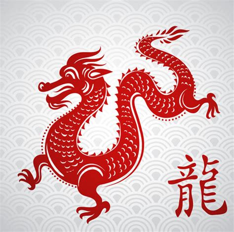 chinese dragon paper cutting vector material download