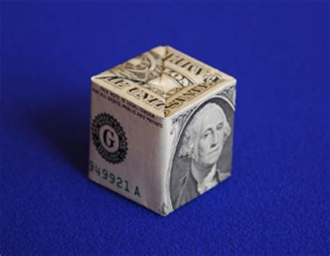 Origami Dollar Box - origamido money origami kit