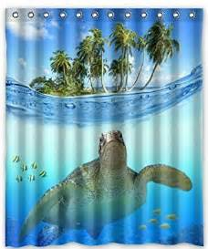 turtle shower curtains bath accessory sets custom underwater sea turtle polyester fabric bathroom decor shower curtain 60 quot x 72