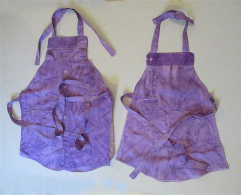 apron pattern using a man s shirt the upcycle challenge making an adult child apron set