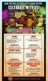 Freddy fazbear pizza logo freddy fazbears pizza coupons