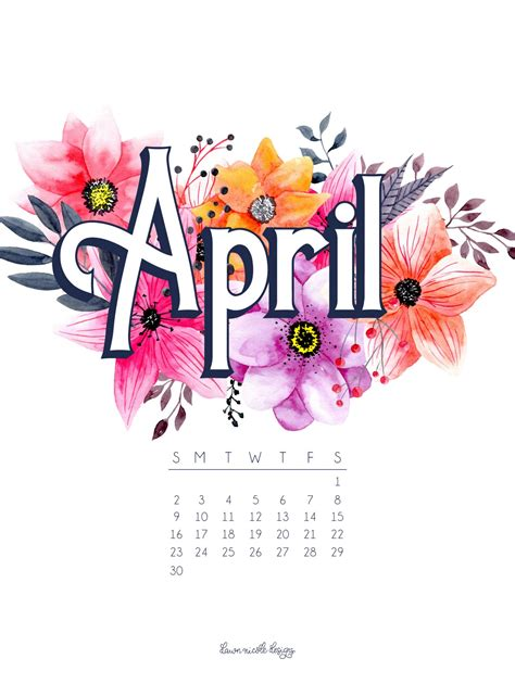 april 2017 calendar tech pretties designs 174