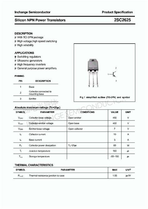 transistor a564 datasheet pdf 2sc2625 4627940 pdf datasheet ic on line
