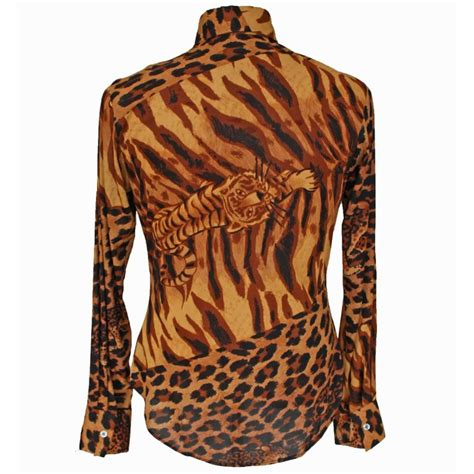 granny takes trip men leopard print shirt featherstone vintage