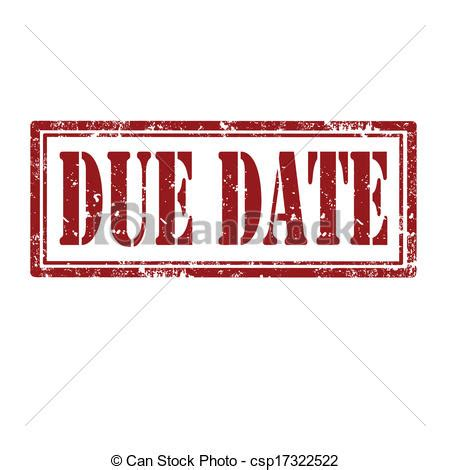 Due Date Lookup Vector Illustration Of Due Date St Grunge Rubber St With Text Due