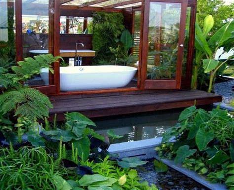 tropical bathrooms outdoor bathroom in the middle of a tropical garden