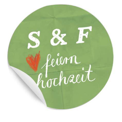 Hochzeit Sticker Initialen by 24 Hochzeitssticker F 252 R Eure Feier In Gr 252 N Mit Herzchen