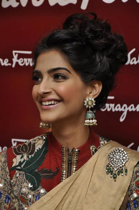 hair cut for long hairs on sari sonam kapoor hairstyles indian beauty tips