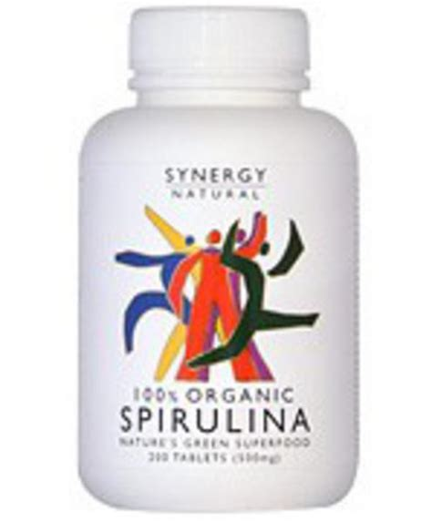 organic spirulina in 200tabs from synergy natural
