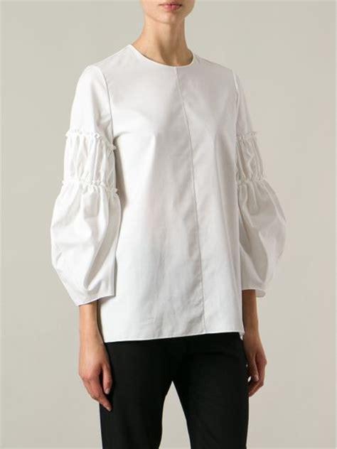 S10 Puff Brocade Dress Dress silk puff sleeve blouse smart casual blouse
