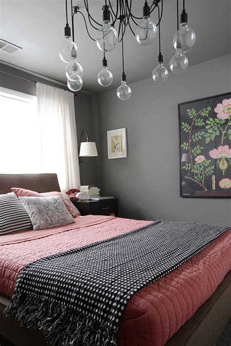 grey walls bedroom serene coral combinations mint grey