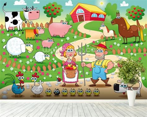 Farm Wall Mural country farm wallpaper wall mural wallsauce usa