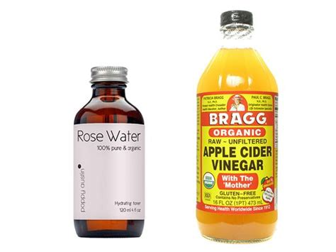 apple vinegar toner diy rose water acv toner apple cider rose water and poppies