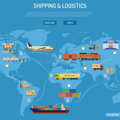 shipping and logistics concept stock vector image 67083398