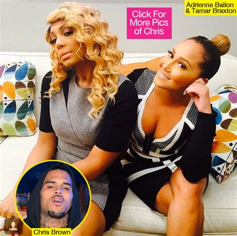 chris brown calls adrienne bailon quot trout b ch quot tamar braxton on chris brown diss she fights back says