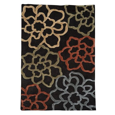 linon home decor rugs linon home decor trio collection chocolate and pumpkin 8