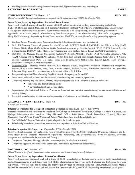 semiconductor resume resume ideas