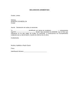 declaracion juramentada de afiliacion a salud declaraci 211 n juramentada de dependencia econ 211 mica