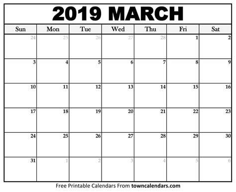 printable march  calendar monthly template  calendar printables calendar