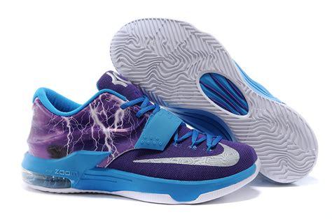 basketball shoes kd7 nike kd 7 basketball shoes lighting blue purple silver