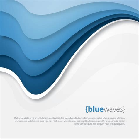 wave pattern vector art blue waves vector graphic template abstract