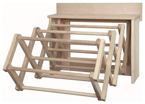 Amish Drying Rack by Handmade Amish Maple Folding Drying Rack Wall Unit 25 5