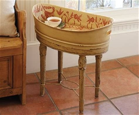 tub side table 55 best images about galvanized buckets wash tubs on