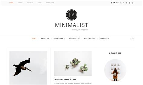 25 Best Free Responsive Blogger Templates 2018 Minimalist Templates