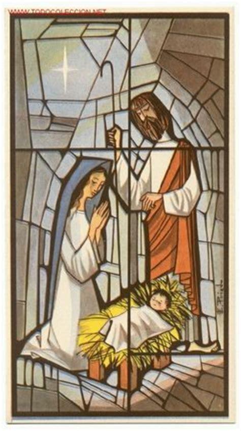 dibujo de vidriera de la virgen mar繝箝a con jes繝篌s para magnifica postal doble de navidad precioso dib comprar
