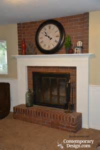 mantel shelves for brick fireplaces brick fireplace makeover