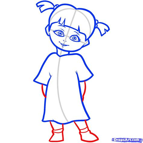 drawing doodle characters how to draw boo boo monsters inc step by step disney