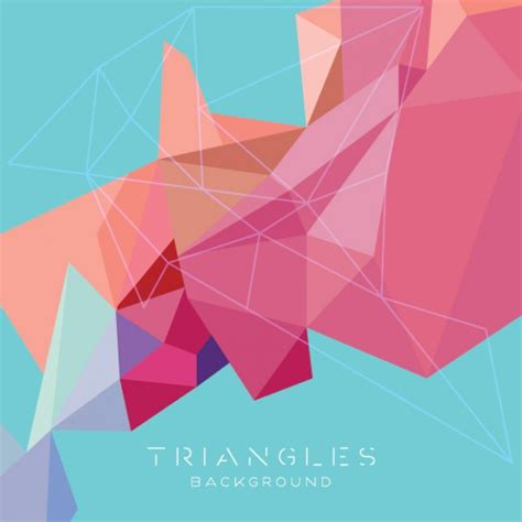 triangle background pattern free abstract triangles background modern design vector free