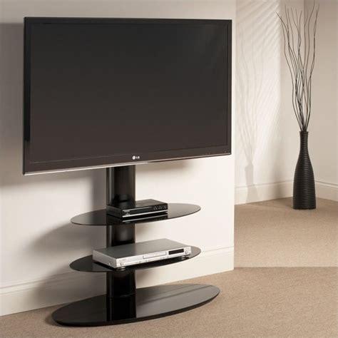 Pedestal Tv 3 shelf pedestal tv stand in black st90e3