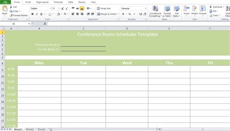 Professional Conference Room Scheduler Template Excel Tmp | professional conference room scheduler template excel tmp