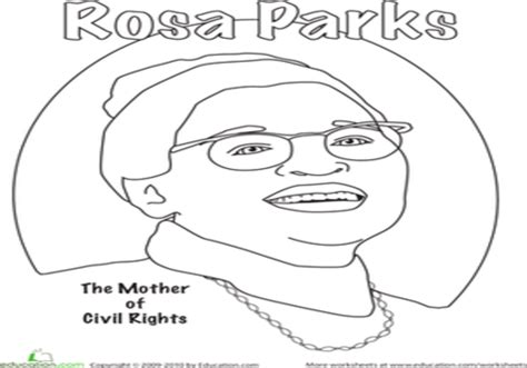 rosa parks drawing sketch coloring page