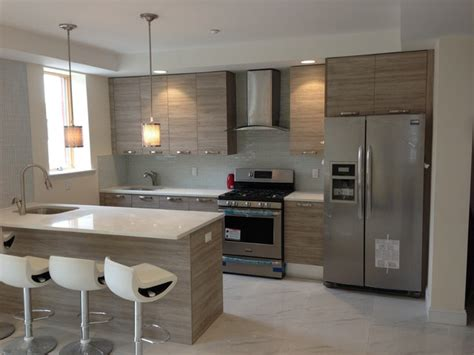 Kitchen Units Design 14 Unit Project Far Rockaway Contemporary Kitchen Cabinetry Other Metro By Artistic