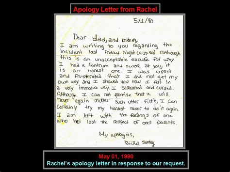 Apology Letter To My Boyfriend S Parents The Apology Letter Handed To Shopkeeper By Apology Letters To Your Letter Sle