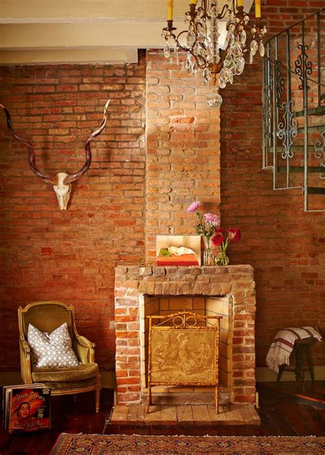 my husband our brick fireplace laurel home