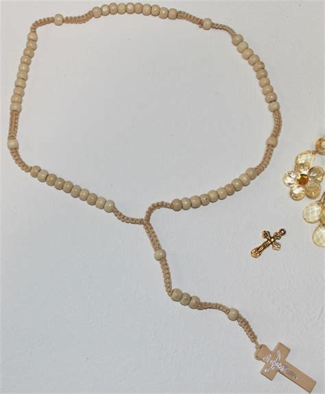necklace wood rosary or rosaries 19 inch