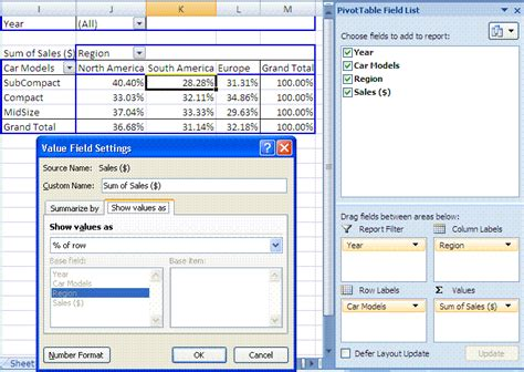 Pivot Table Calculated Item by Excel Pivot Table Report Summary Functions Custom