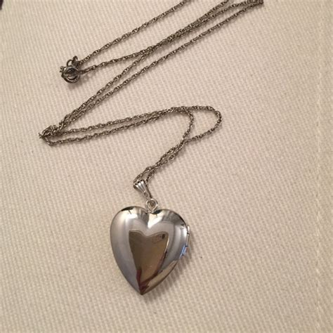 fortunoff fortunoff sterling silver locket necklace from