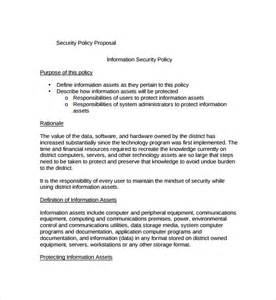 organizational security policy template sle policy template 9 free documents in pdf