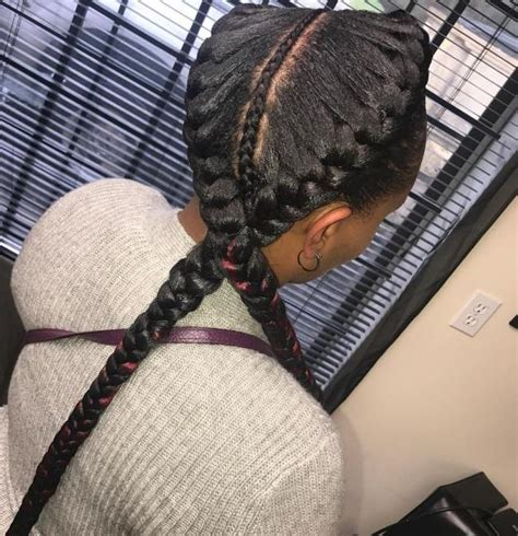 two braids purple goddess 2 goddess braids with weave new natural hairstyles