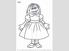 Step by Step How to Draw Prairie Dawn from Sesame Street ... Eagle Coloring Pages Free