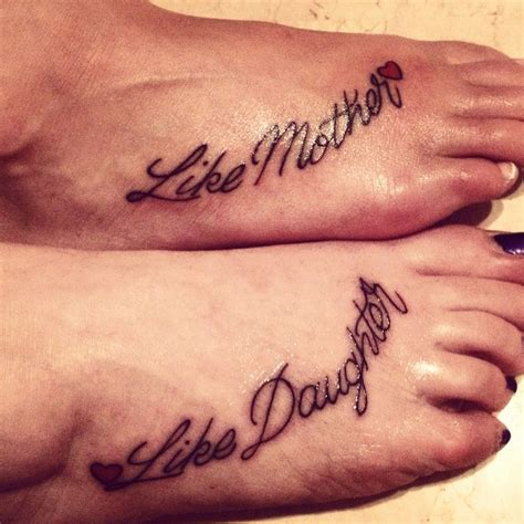 mother daughter foot tattoos tattoos