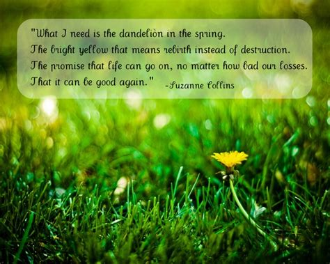 Gamis Dendelion the hunger dandelion quote print quote
