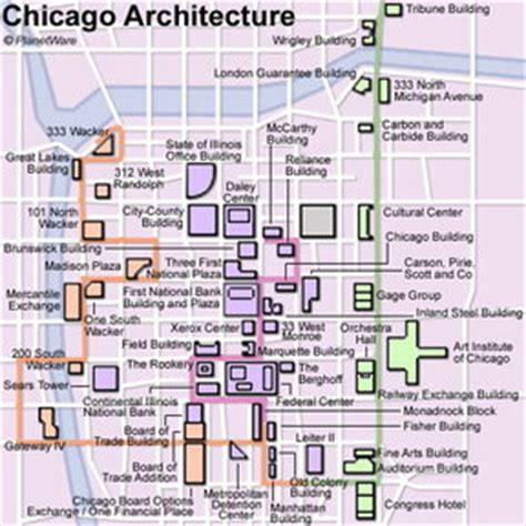 chicago map for tourists 15 top tourist attractions in chicago planetware