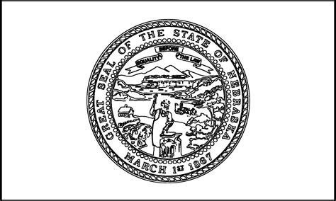 new nebraska state flag coloring page artsybarksy