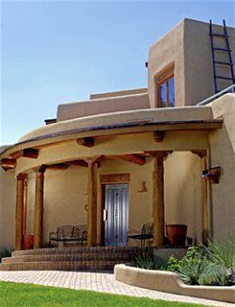 with adobe or stucco walls the modern style of pueblo
