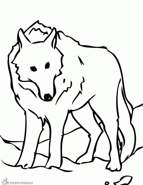 template simple wolf and easy wolf pup coloring pages